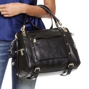 Rebecca Minkoff Large Cupid Satchel Bag - Black